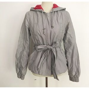 EUC Anthro Elevenses Belted Hooded Parka Jacket
